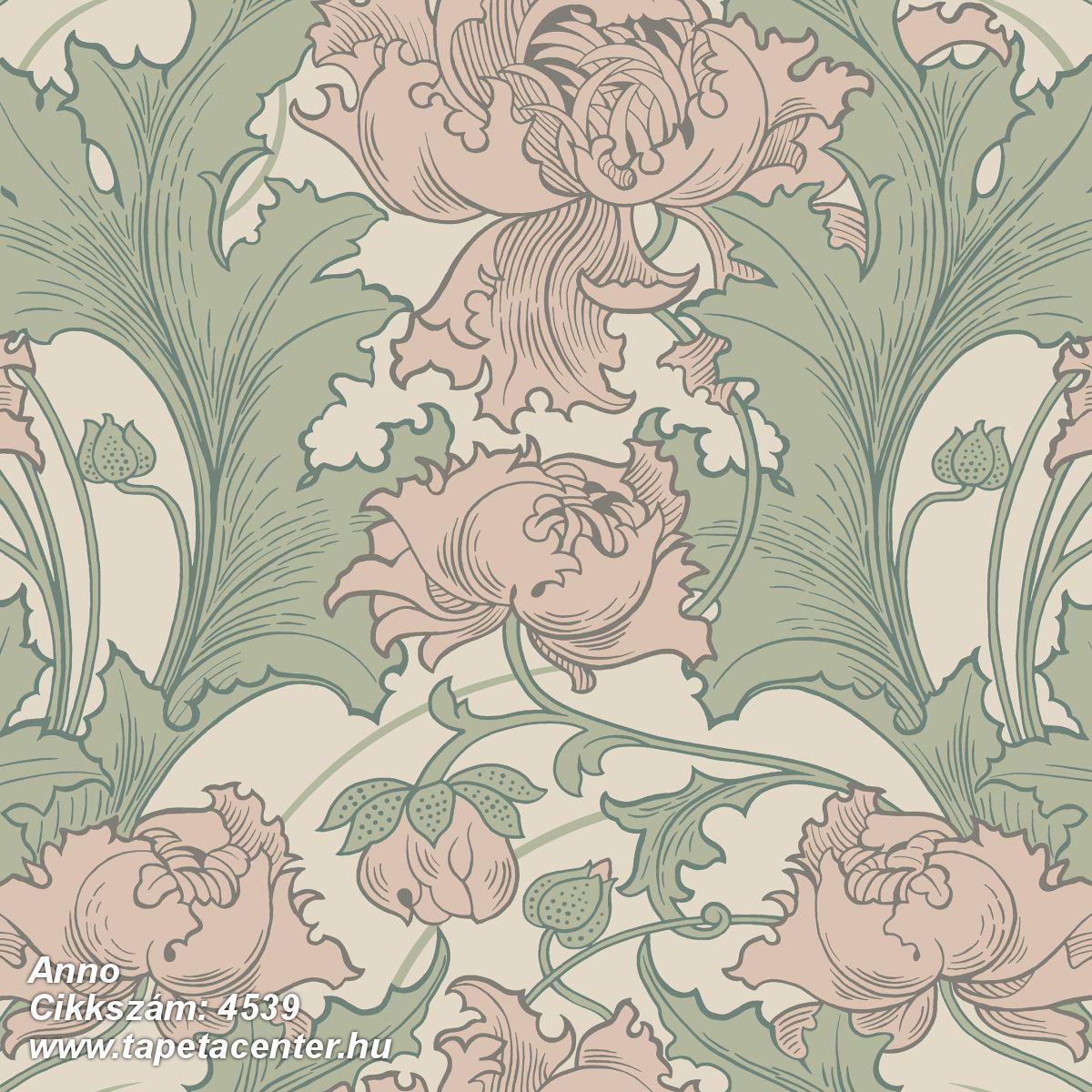 Barokk-klasszikus,virágmintás,bézs-drapp,pink-rózsaszín,zöld,lemosható,vlies tapéta