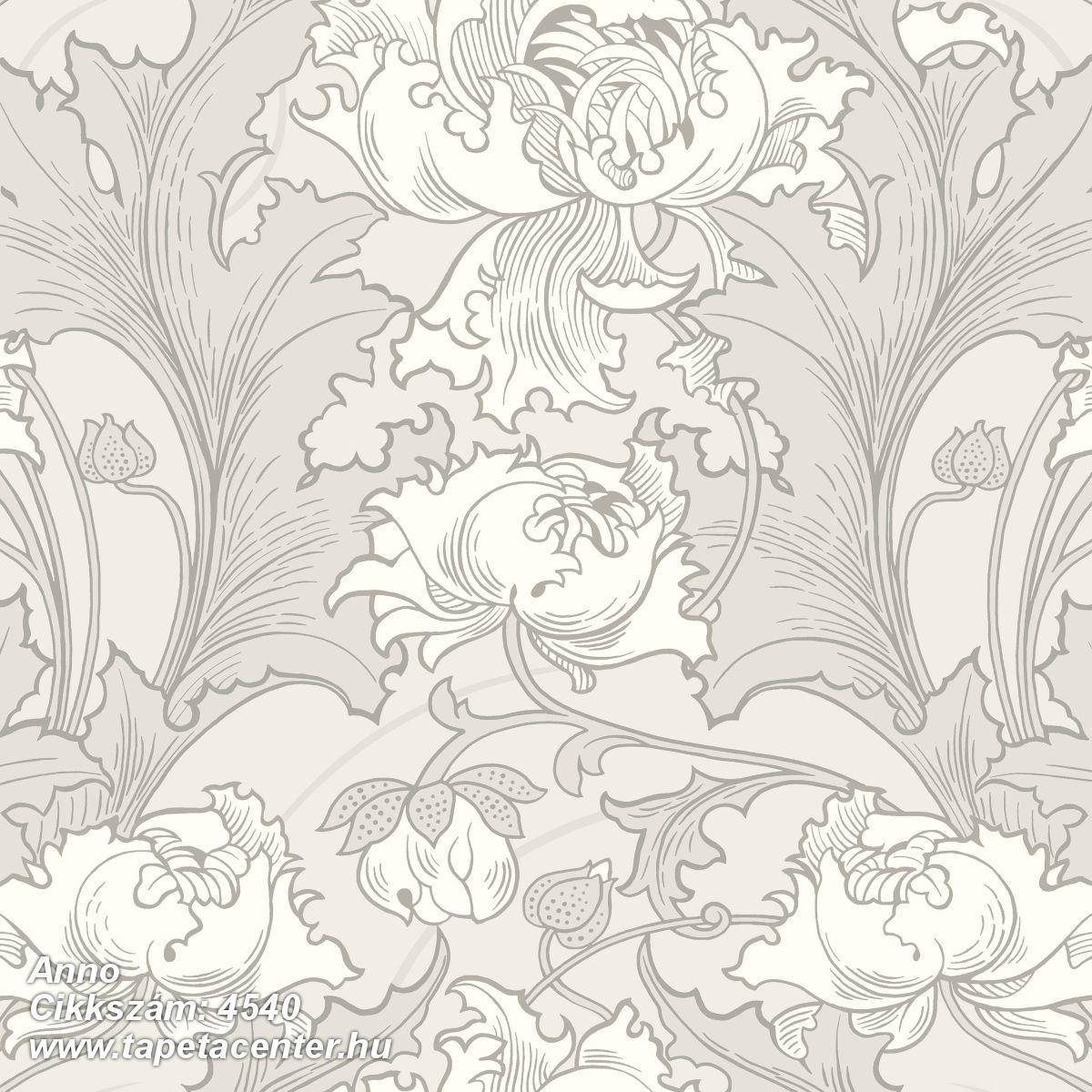 Barokk-klasszikus,virágmintás,bézs-drapp,szürke,lemosható,vlies tapéta