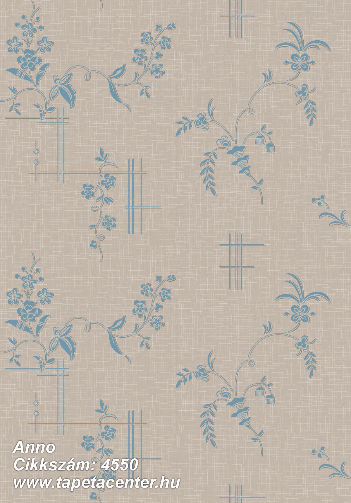 Barokk-klasszikus,természeti mintás,virágmintás,barna,kék,lemosható,vlies tapéta
