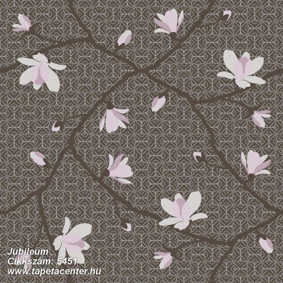 Természeti mintás,virágmintás,barna,fehér,pink-rózsaszín,lemosható,vlies tapéta
