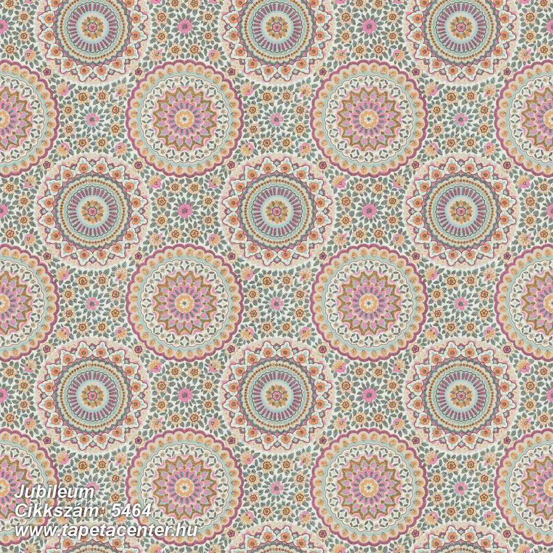 Geometriai mintás,retro,virágmintás,fehér,narancs-terrakotta,pink-rózsaszín,türkiz,lemosható,vlies tapéta