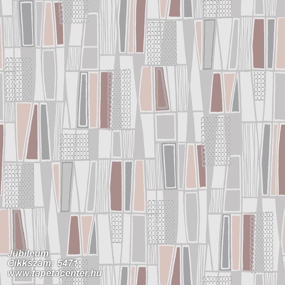 Absztrakt,geometriai mintás,retro,barna,bézs-drapp,piros-bordó,szürke,lemosható,vlies tapéta