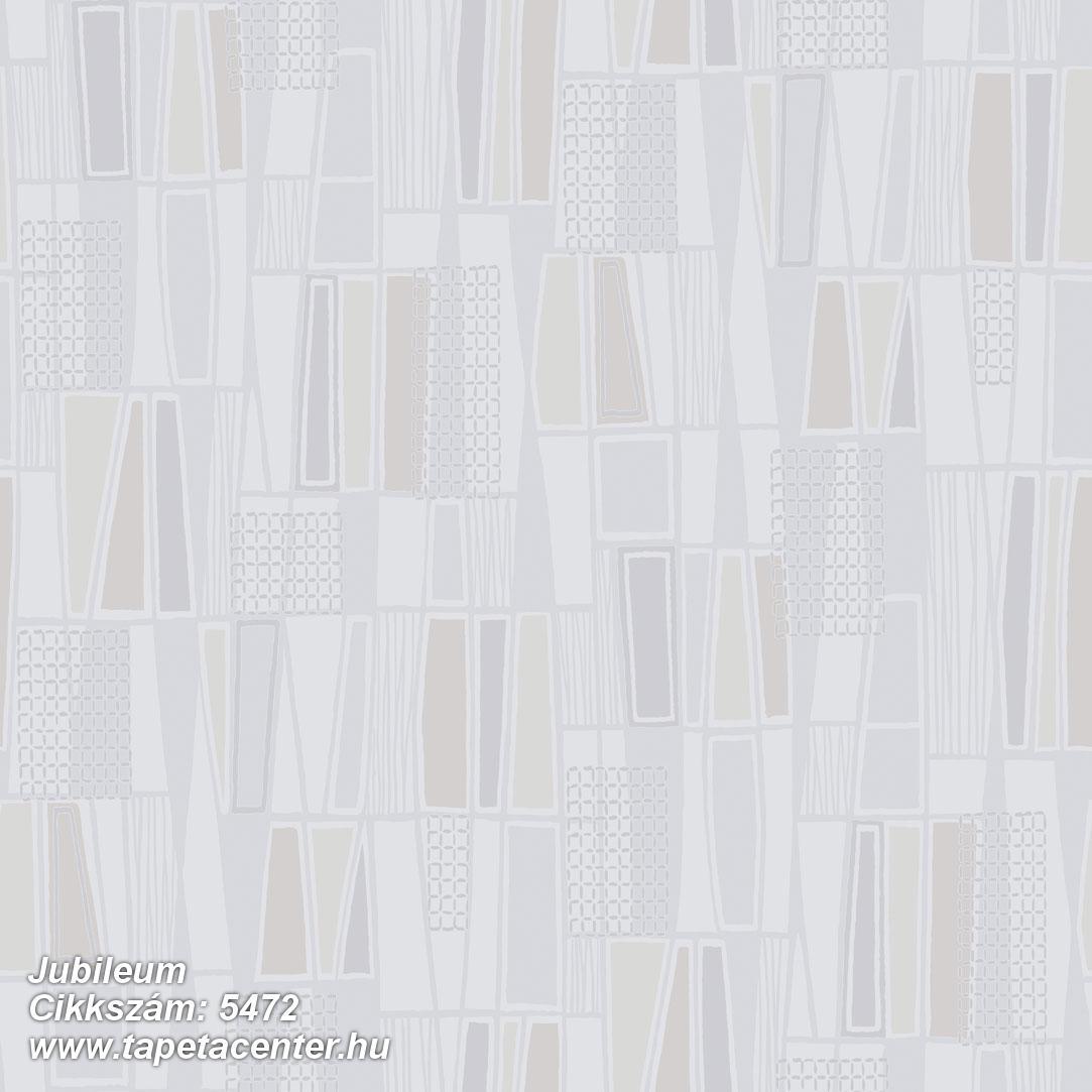 Absztrakt,geometriai mintás,retro,bézs-drapp,szürke,lemosható,vlies tapéta