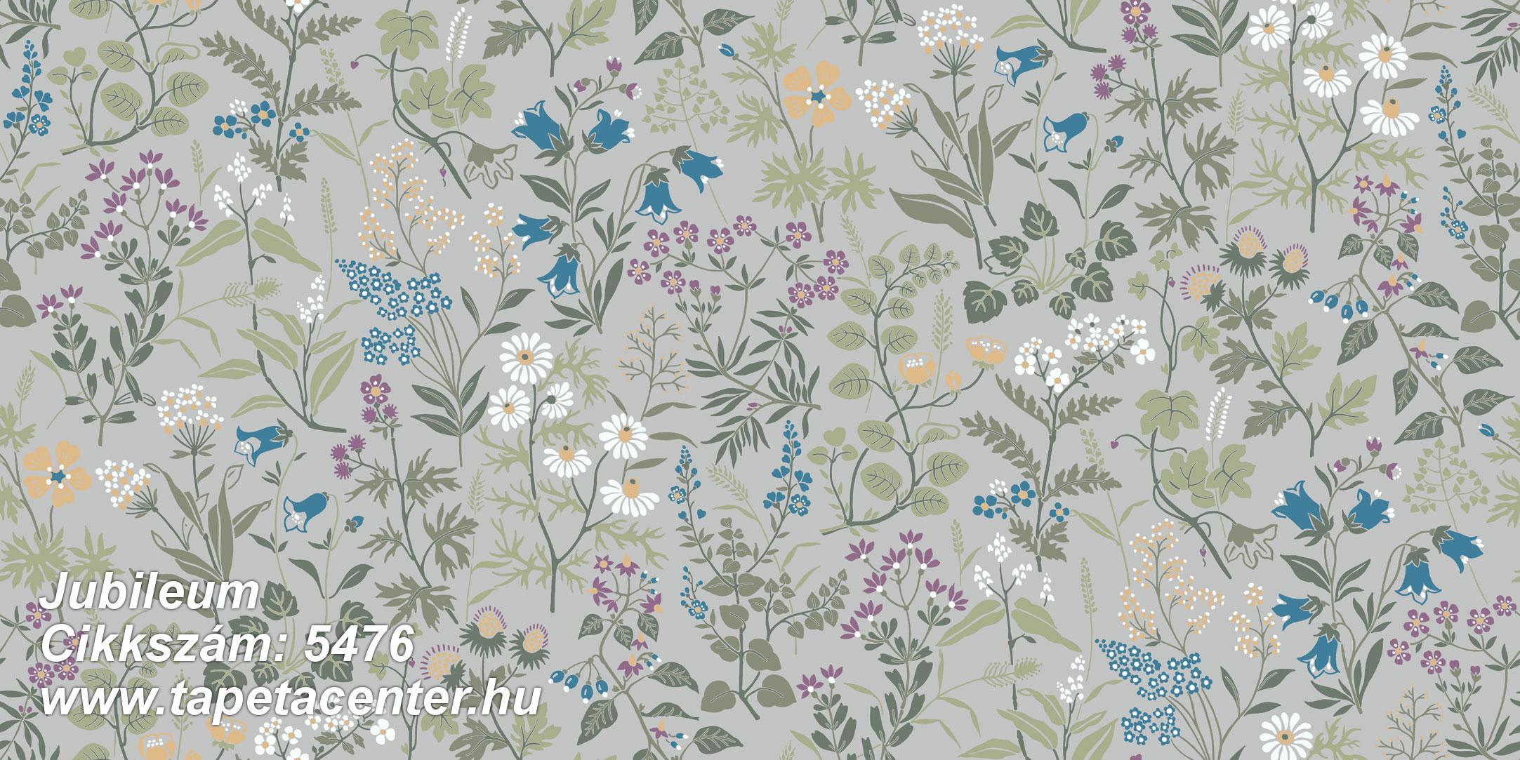 Rajzolt,retro,természeti mintás,virágmintás,fehér,kék,lila,narancs-terrakotta,szürke,gyengén mosható,vlies tapéta