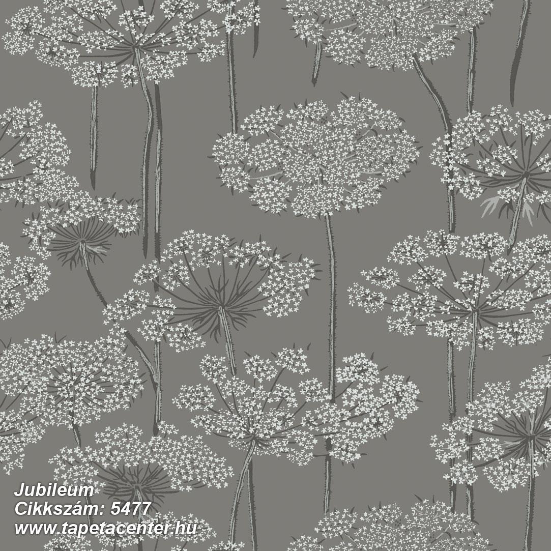 Retro,természeti mintás,virágmintás,szürke,lemosható,vlies tapéta