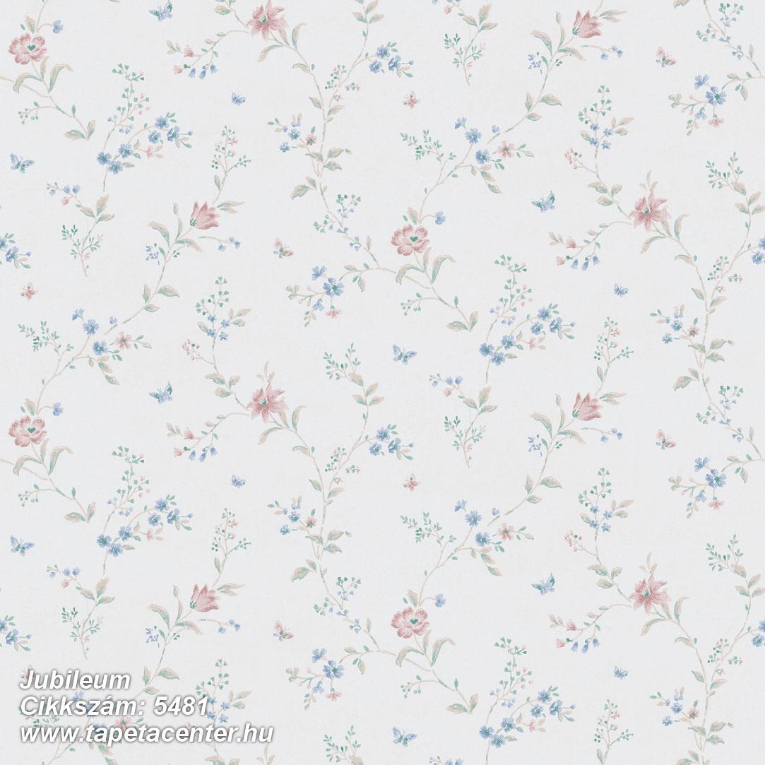 Retro,természeti mintás,virágmintás,fehér,kék,piros-bordó,zöld,lemosható,vlies tapéta