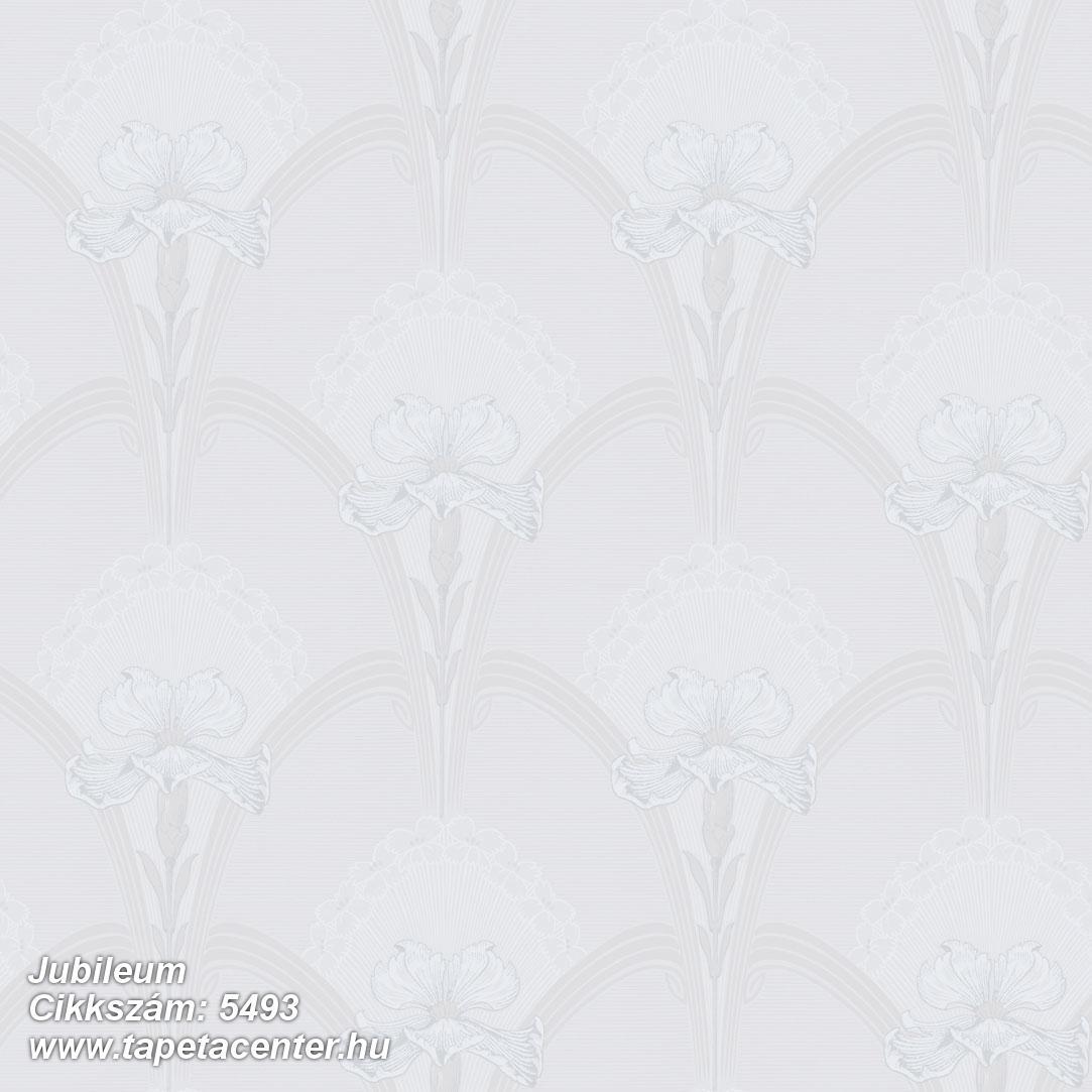 Geometriai mintás,rajzolt,virágmintás,ezüst,fehér,lemosható,vlies tapéta