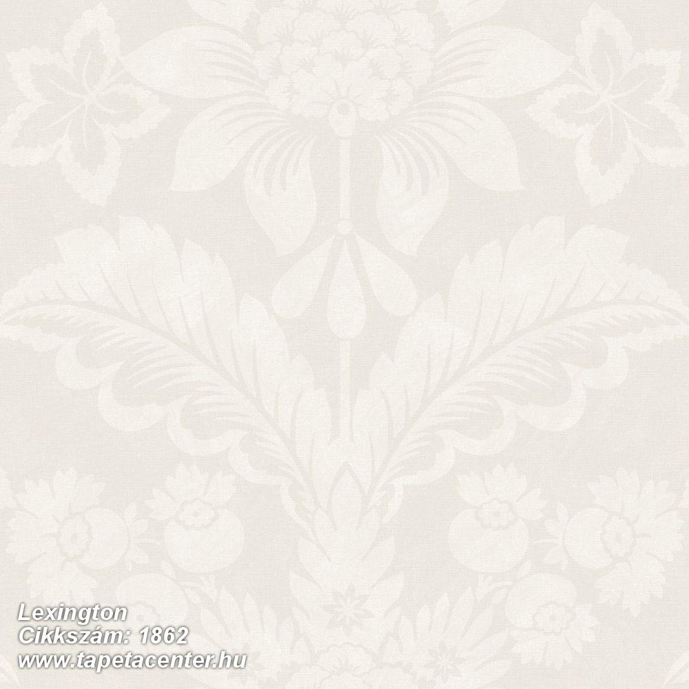 Barokk-klasszikus,virágmintás,bézs-drapp,fehér,lemosható,vlies tapéta