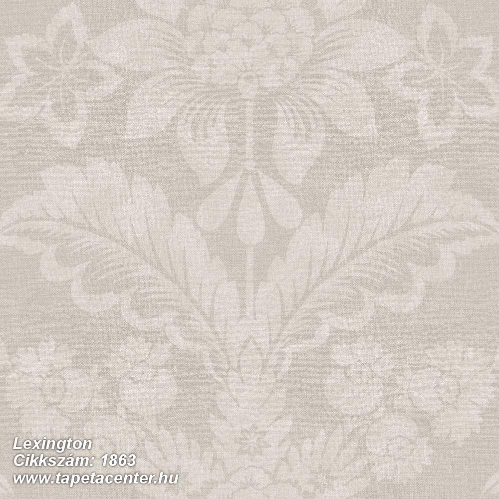 Barokk-klasszikus,virágmintás,barna,lemosható,vlies tapéta