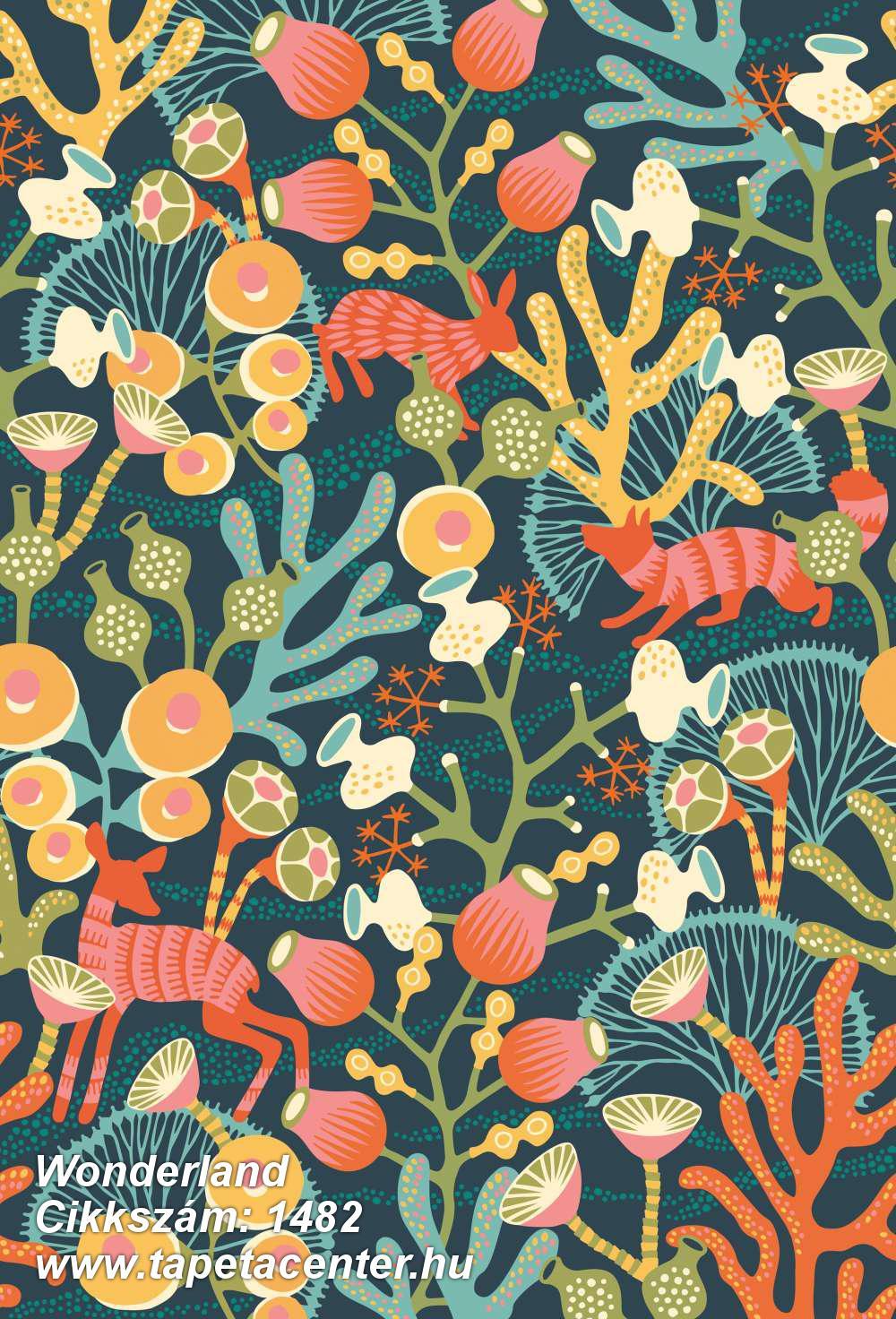 Absztrakt,állatok,gyerek,rajzolt,természeti mintás,virágmintás,barna,kék,narancs-terrakotta,piros-bordó,sárga,türkiz,zöld,vlies panel