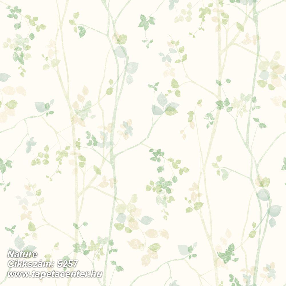 Rajzolt,természeti mintás,bézs-drapp,fehér,sárga,zöld,lemosható,vlies tapéta