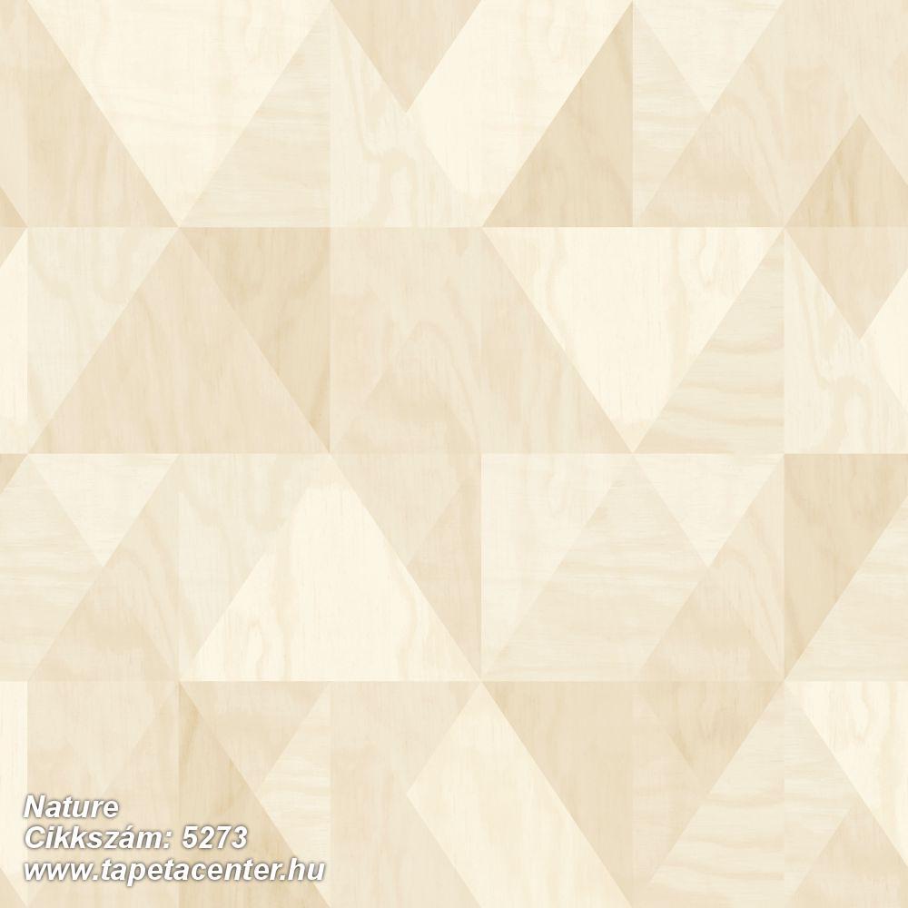 Absztrakt,geometriai mintás,barna,bézs-drapp,vajszín,lemosható,vlies tapéta