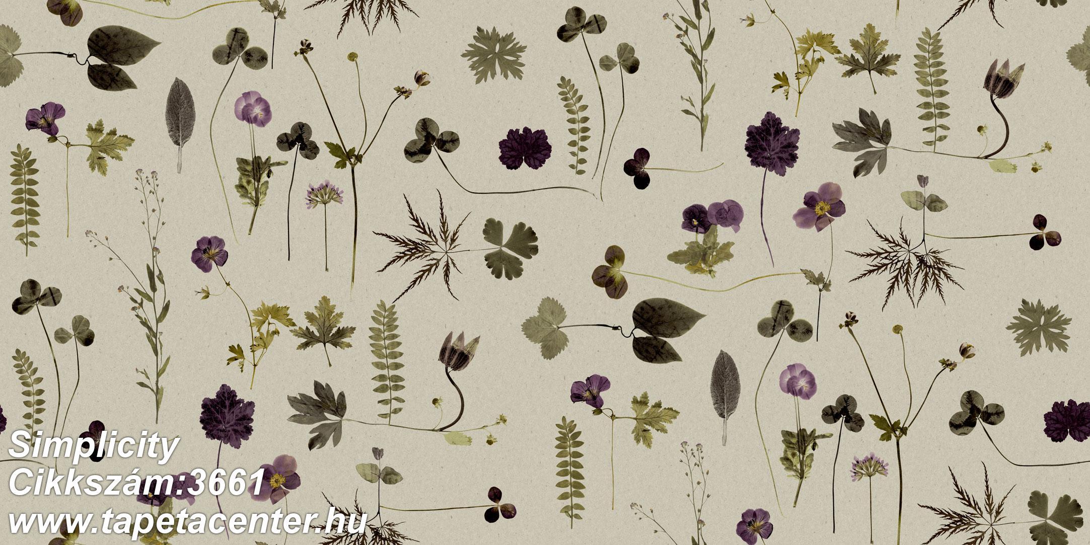 Természeti mintás,virágmintás,bézs-drapp,kék,lila,zöld,lemosható,vlies tapéta
