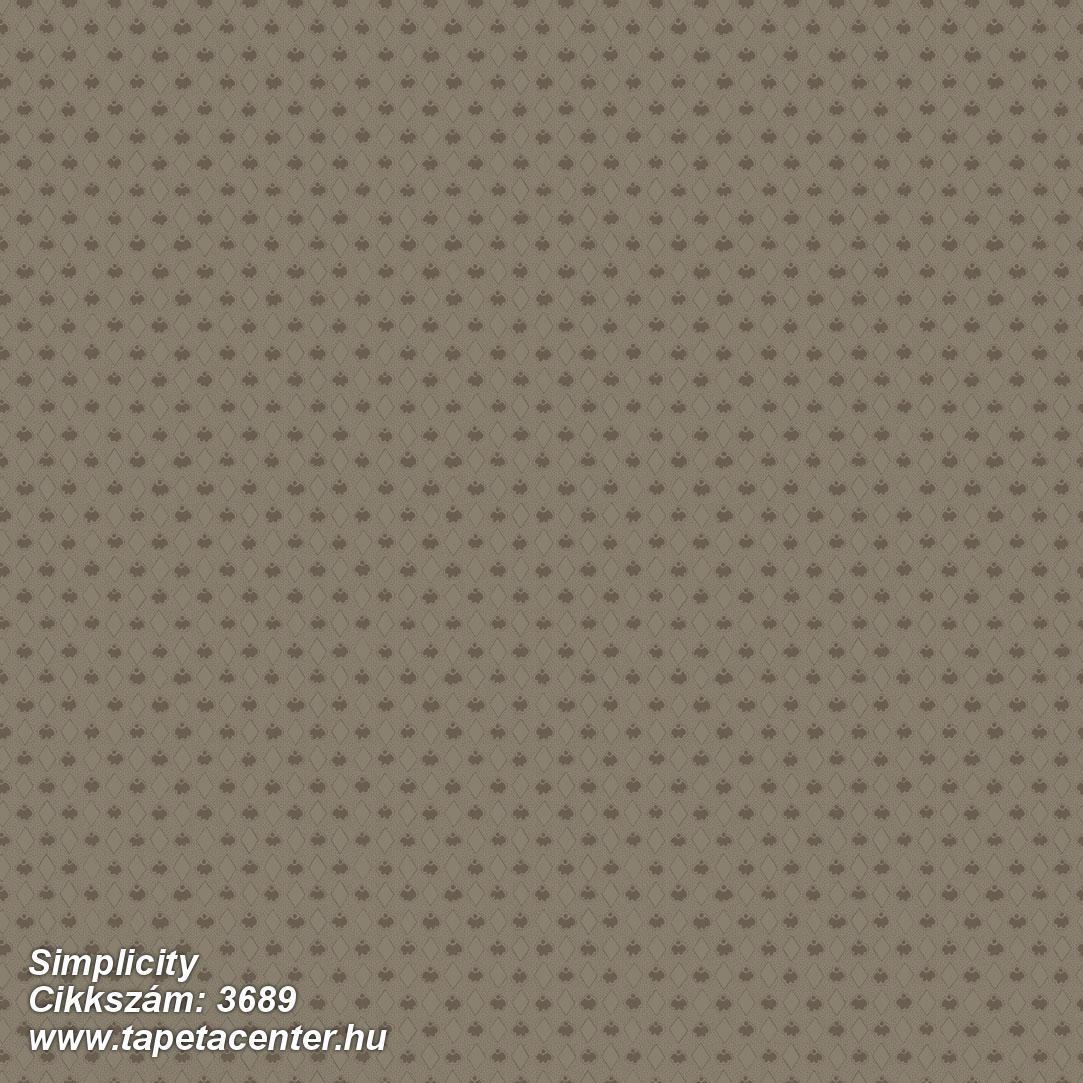 Geometriai mintás,különleges motívumos,barna,lemosható,vlies tapéta