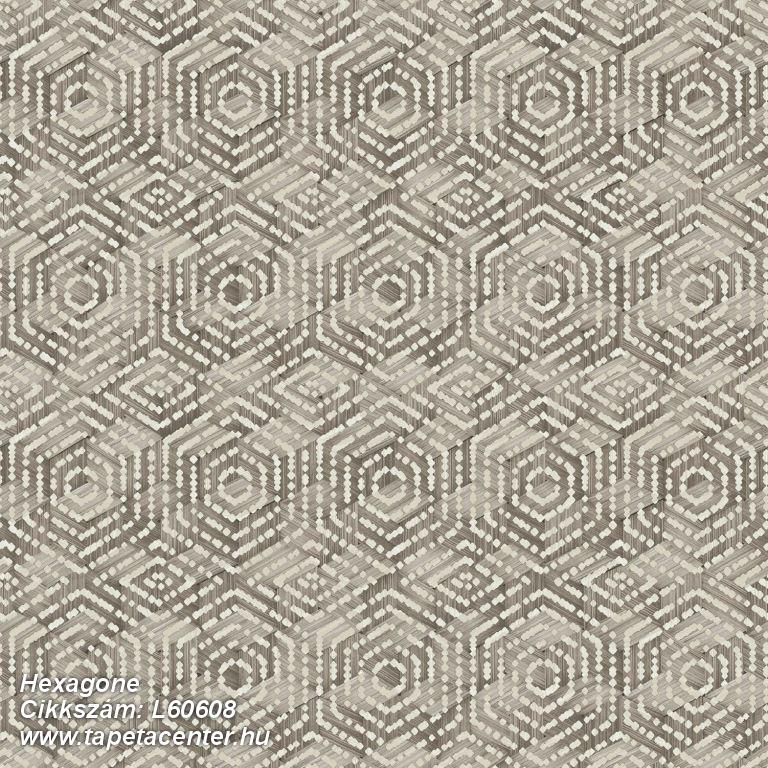 3d hatású,geometriai mintás,különleges motívumos,barna,bézs-drapp,lemosható,vlies tapéta