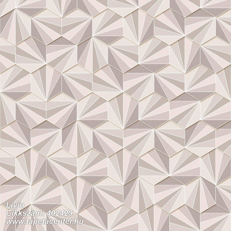 3d hatású,absztrakt,csillámos,geometriai mintás,különleges felületű,barna,bézs-drapp,fehér,lemosható,vlies tapéta