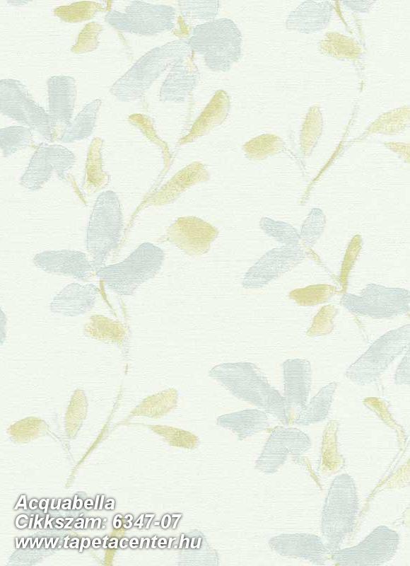 Különleges felületű,virágmintás,fehér,szürke,zöld,lemosható,vlies tapéta