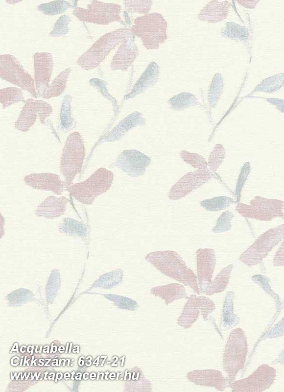 Különleges felületű,virágmintás,lila,pink-rózsaszín,lemosható,vlies tapéta