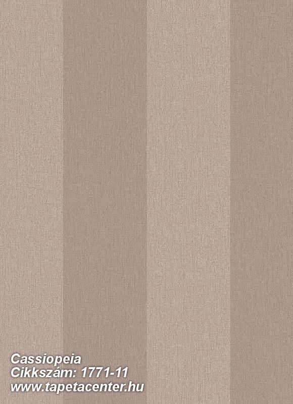 Csíkos,barna,bézs-drapp,gyengén mosható,illesztés mentes,vlies tapéta