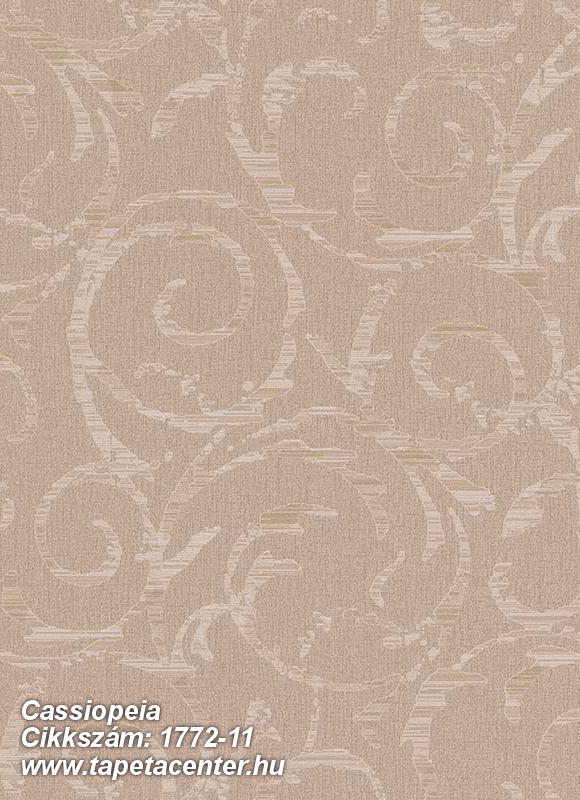 Csillámos,különleges motívumos,barna,bézs-drapp,gyengén mosható,vlies tapéta