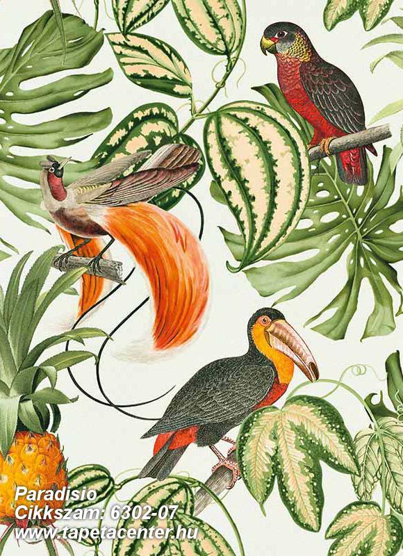 állatok,különleges motívumos,rajzolt,természeti mintás,barna,bézs-drapp,fehér,narancs-terrakotta,piros-bordó,sárga,szürke,zöld,lemosható,vlies tapéta