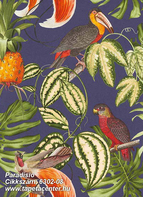 állatok,különleges felületű,különleges motívumos,rajzolt,természeti mintás,barna,bézs-drapp,kék,lila,narancs-terrakotta,piros-bordó,sárga,szürke,vajszín,zöld,lemosható,vlies tapéta
