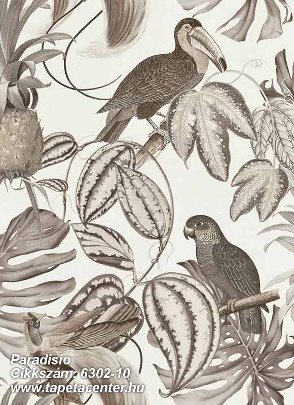 állatok,különleges felületű,különleges motívumos,természeti mintás,bézs-drapp,fehér,lemosható,vlies tapéta