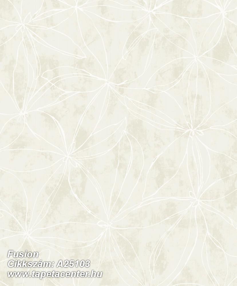 Különleges felületű,különleges motívumos,retro,virágmintás,bézs-drapp,szürke,lemosható,vlies tapéta