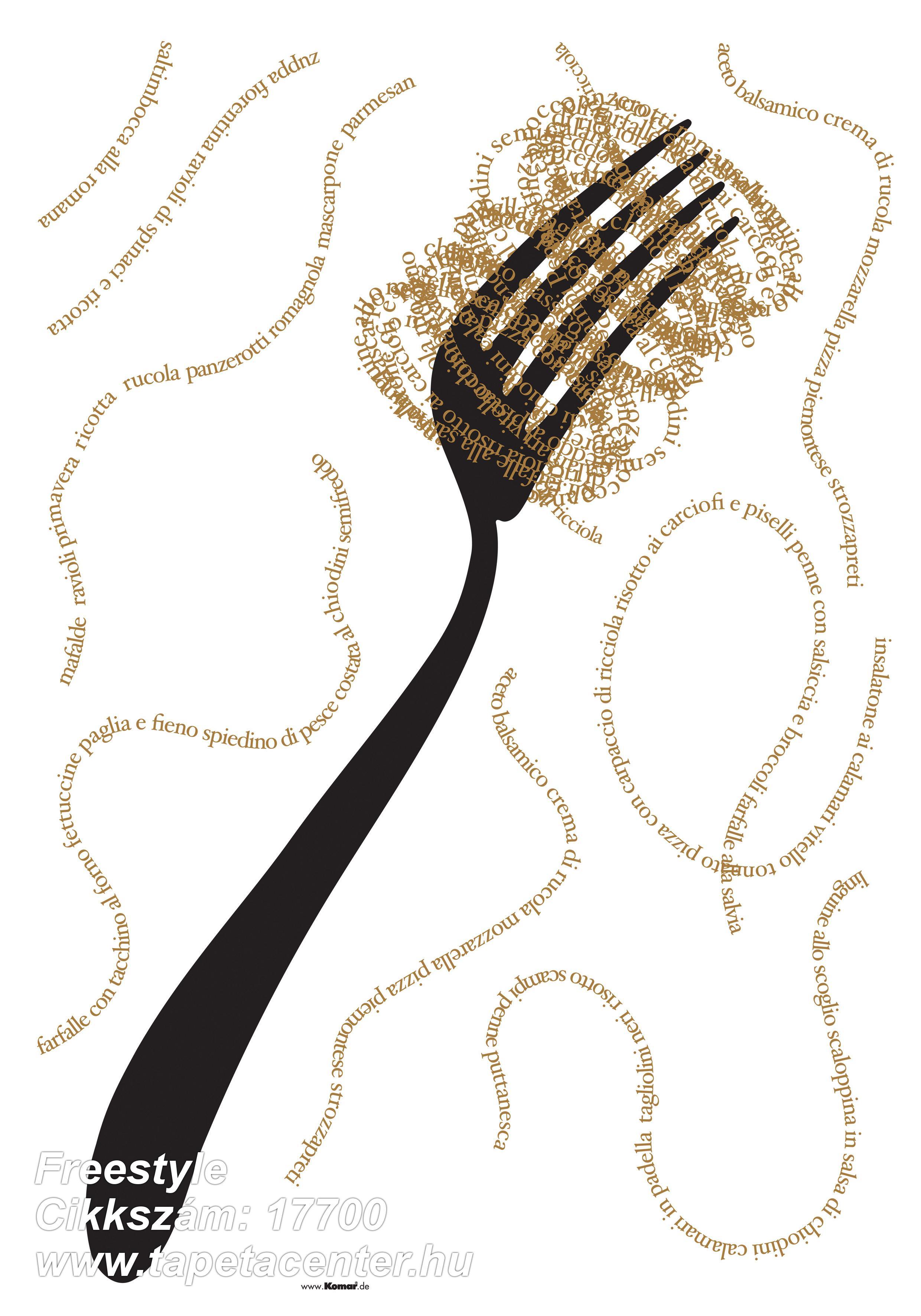 Feliratos-számos,barna,bézs-drapp,anyagában öntapadós falmatrica