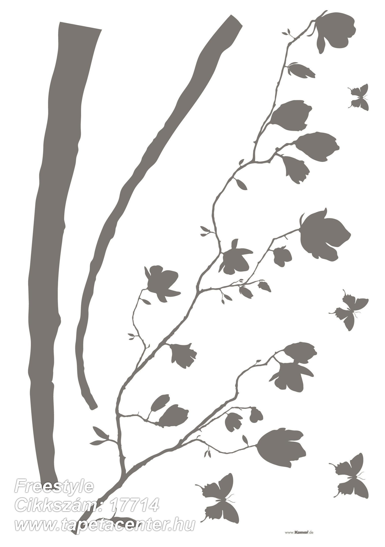 Természeti mintás,barna,szürke,anyagában öntapadós falmatrica