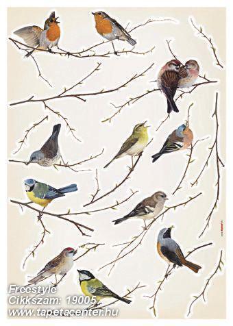 Természeti mintás,barna,bézs-drapp,kék,szürke,vajszín,zöld,anyagában öntapadós falmatrica