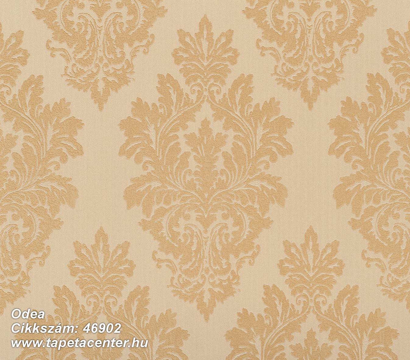 Barokk-klasszikus,különleges felületű,textil hatású,arany,bézs-drapp,súrolható,vlies tapéta