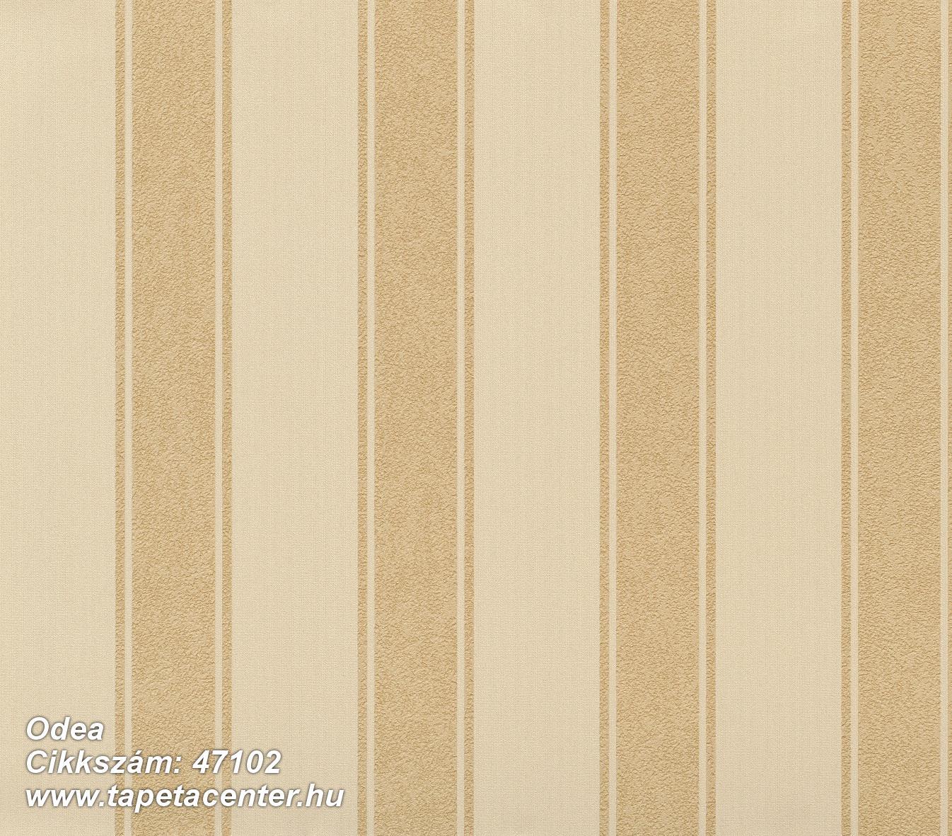 Csíkos,különleges felületű,textil hatású,arany,bézs-drapp,súrolható,illesztés mentes,vlies tapéta