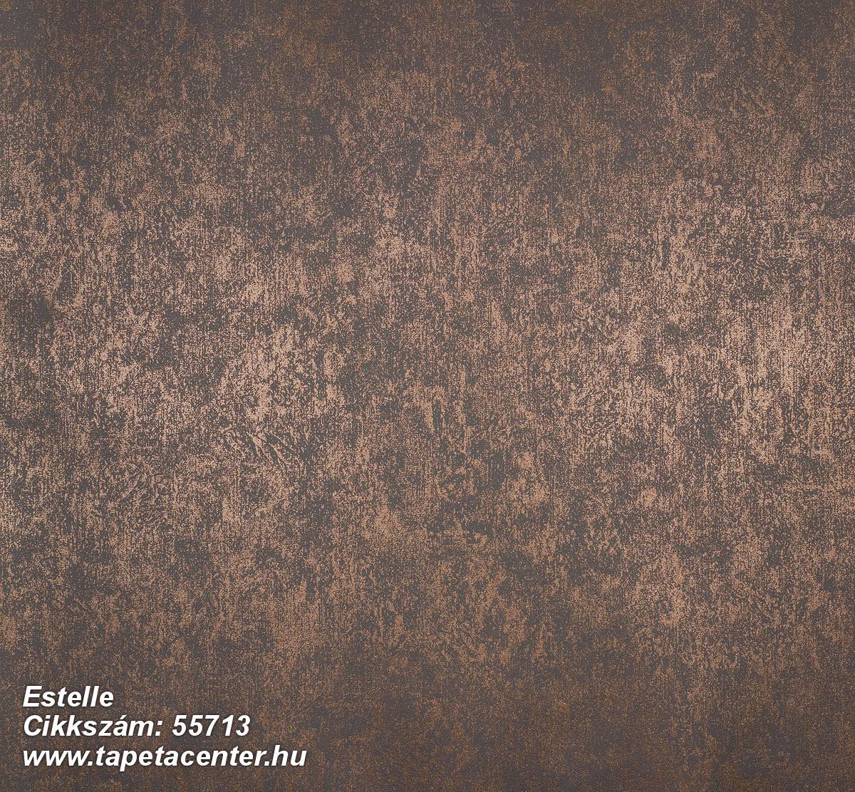 Egyszínű,fémhatású - indusztriális,metál-fényes,barna,bronz,lemosható,illesztés mentes,vlies tapéta