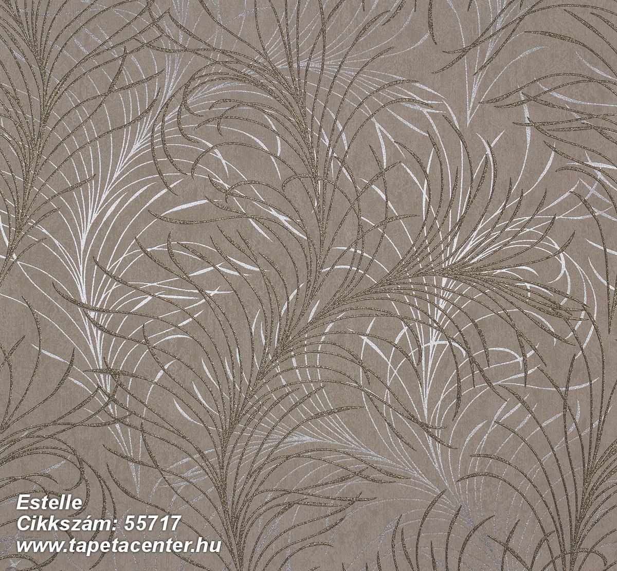 Metál-fényes,természeti mintás,barna,ezüst,lemosható,vlies tapéta