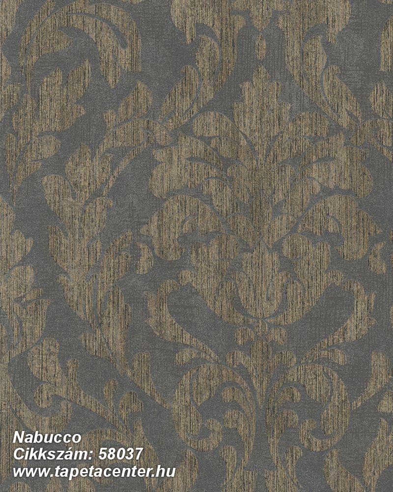 Barokk-klasszikus,barna,szürke,lemosható,vlies tapéta