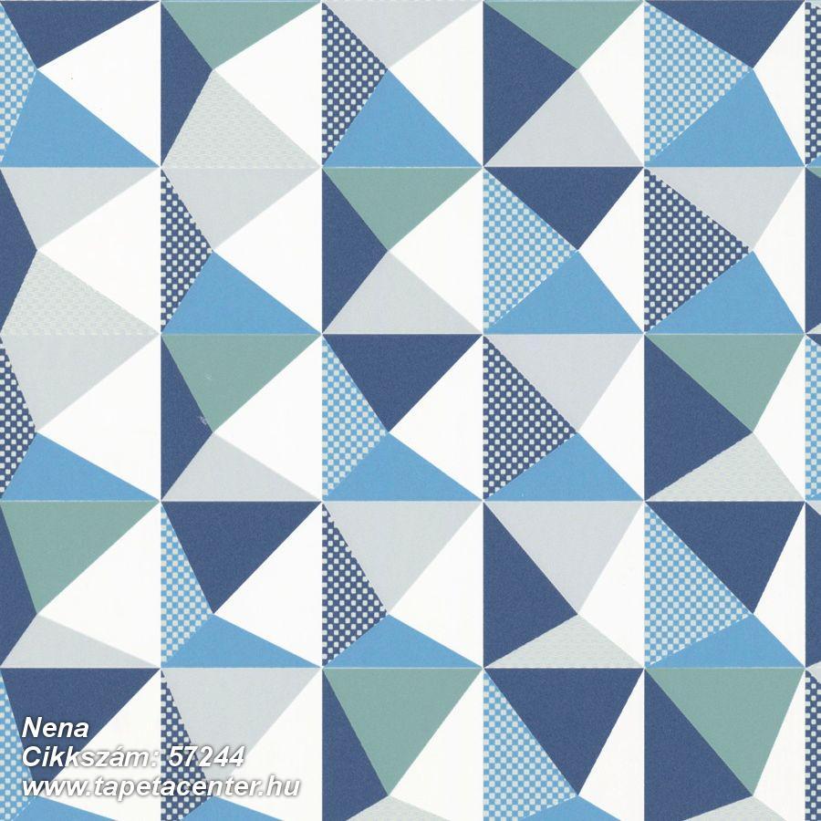 Absztrakt,geometriai mintás,kockás,különleges motívumos,pöttyös,retro,fehér,kék,szürke,türkiz,zöld,lemosható,vlies tapéta