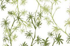 Gyerek,rajzolt,természeti mintás,virágmintás,fehér,zöld,gyengén mosható,vlies poszter, fotótapéta