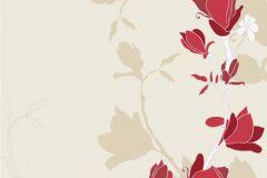 Rajzolt,retro,természeti mintás,virágmintás,bézs-drapp,fehér,piros-bordó,gyengén mosható,vlies poszter, fotótapéta