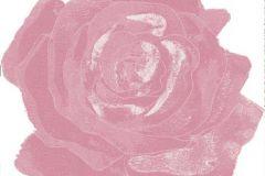 Különleges motívumos,rajzolt,retro,virágmintás,fehér,pink-rózsaszín,gyengén mosható,vlies poszter, fotótapéta
