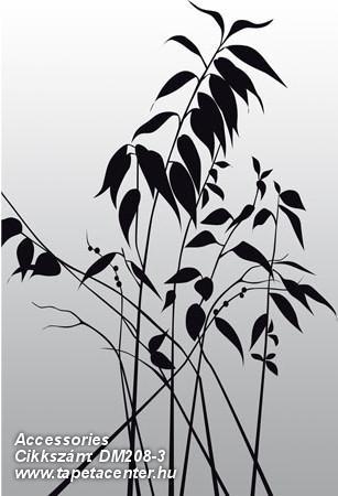 Fa hatású-fa mintás,különleges motívumos,rajzolt,természeti mintás,virágmintás,fehér,fekete,szürke,gyengén mosható,vlies poszter, fotótapéta