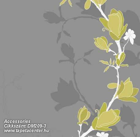 Különleges motívumos,rajzolt,természeti mintás,virágmintás,fehér,sárga,szürke,gyengén mosható,vlies poszter, fotótapéta