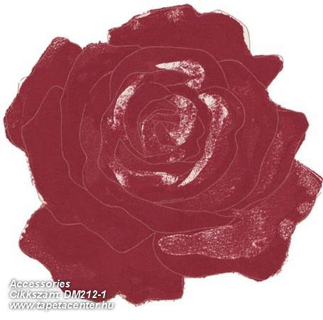 Különleges motívumos,rajzolt,retro,virágmintás,fehér,piros-bordó,gyengén mosható,vlies poszter, fotótapéta