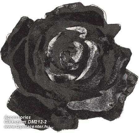 Rajzolt,retro,virágmintás,fehér,fekete,szürke,gyengén mosható,vlies poszter, fotótapéta