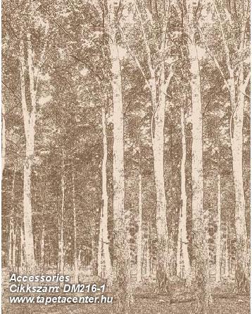 Fa hatású-fa mintás,különleges motívumos,rajzolt,tájkép,természeti mintás,barna,bézs-drapp,gyengén mosható,vlies poszter, fotótapéta