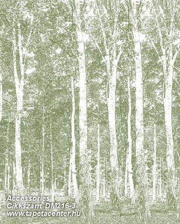Absztrakt,fa hatású-fa mintás,rajzolt,tájkép,természeti mintás,fehér,zöld,gyengén mosható,vlies poszter, fotótapéta