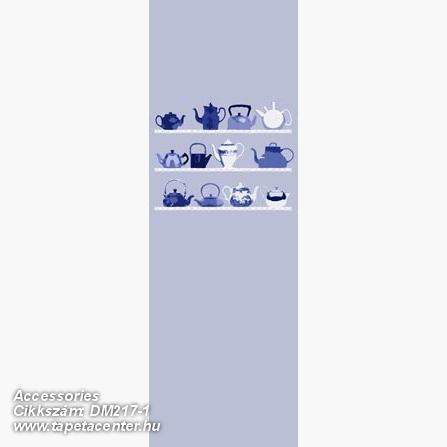 Konyha-fürdőszobai,rajzolt,fehér,kék,gyengén mosható,vlies poszter, fotótapéta