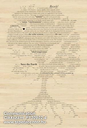 Absztrakt,feliratos-számos,különleges motívumos,rajzolt,retro,természeti mintás,barna,bézs-drapp,fekete,gyengén mosható,vlies poszter, fotótapéta
