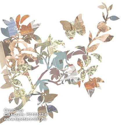 Rajzolt,retro,természeti mintás,virágmintás,barna,bézs-drapp,fehér,zöld,gyengén mosható,vlies poszter, fotótapéta
