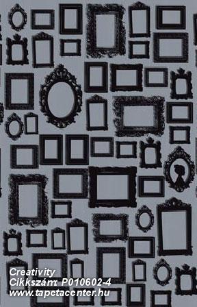 Absztrakt,kockás,különleges motívumos,rajzolt,retro,fekete,szürke,gyengén mosható,vlies poszter, fotótapéta